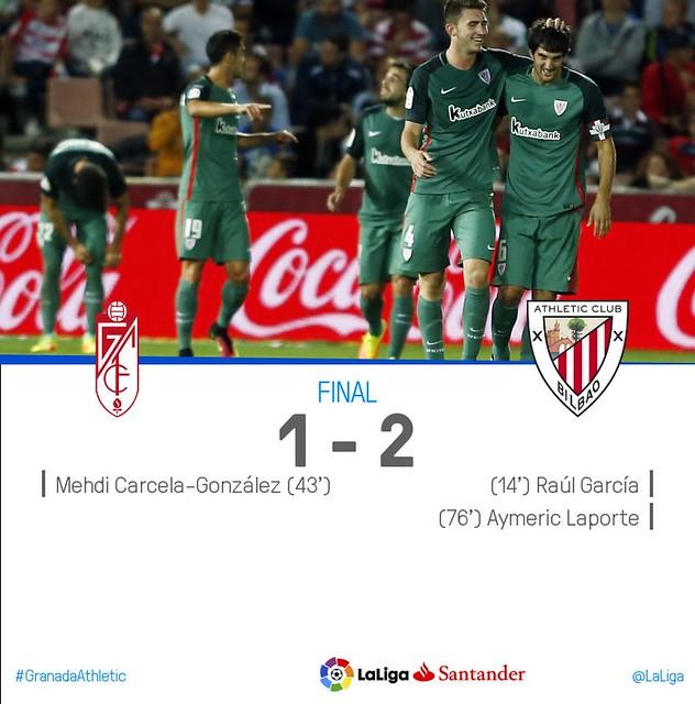 La Liga (Jornada 5): Granada 1 - Athletic de Bilbao 2