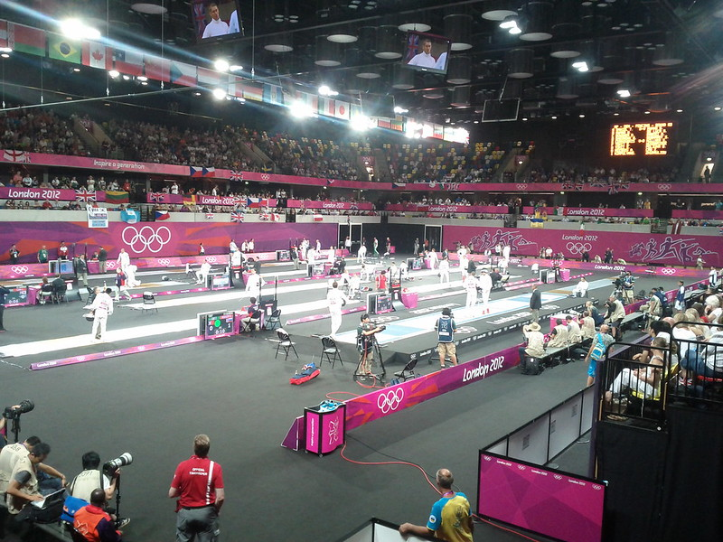 #london2012 modern pentathlon started with fencing in the copper box
