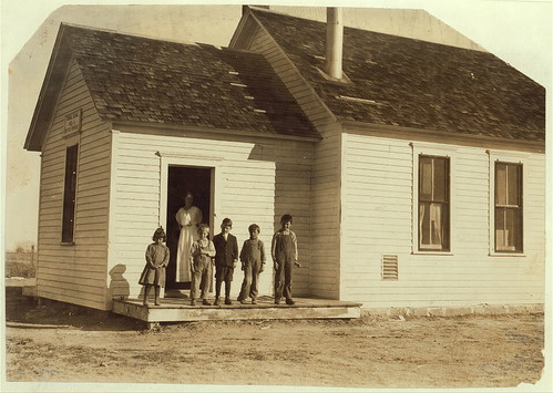 Only 5 pupils present out of about 40 expected when beet work is over. School #1, Dist. 3, Ft. Morgan, Colo. Oct. 26/15 (LOC) | by The Library of Congress