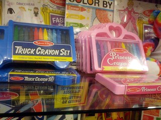 Gendered crayons, Hyatt gift shop, Rochester, NY, USA | by gruntzooki