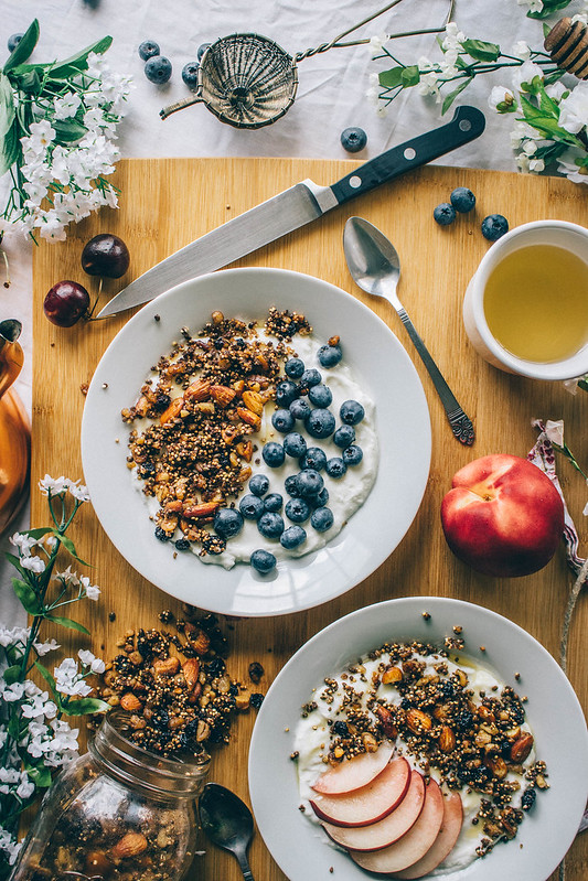 Gluten-Free Quinoa & Dried Blueberry Granola // TermiNatetor Kitchen