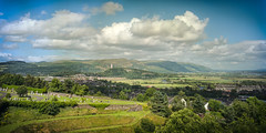 Scotland Wallace Monument From Stirling Castle Summer Wide