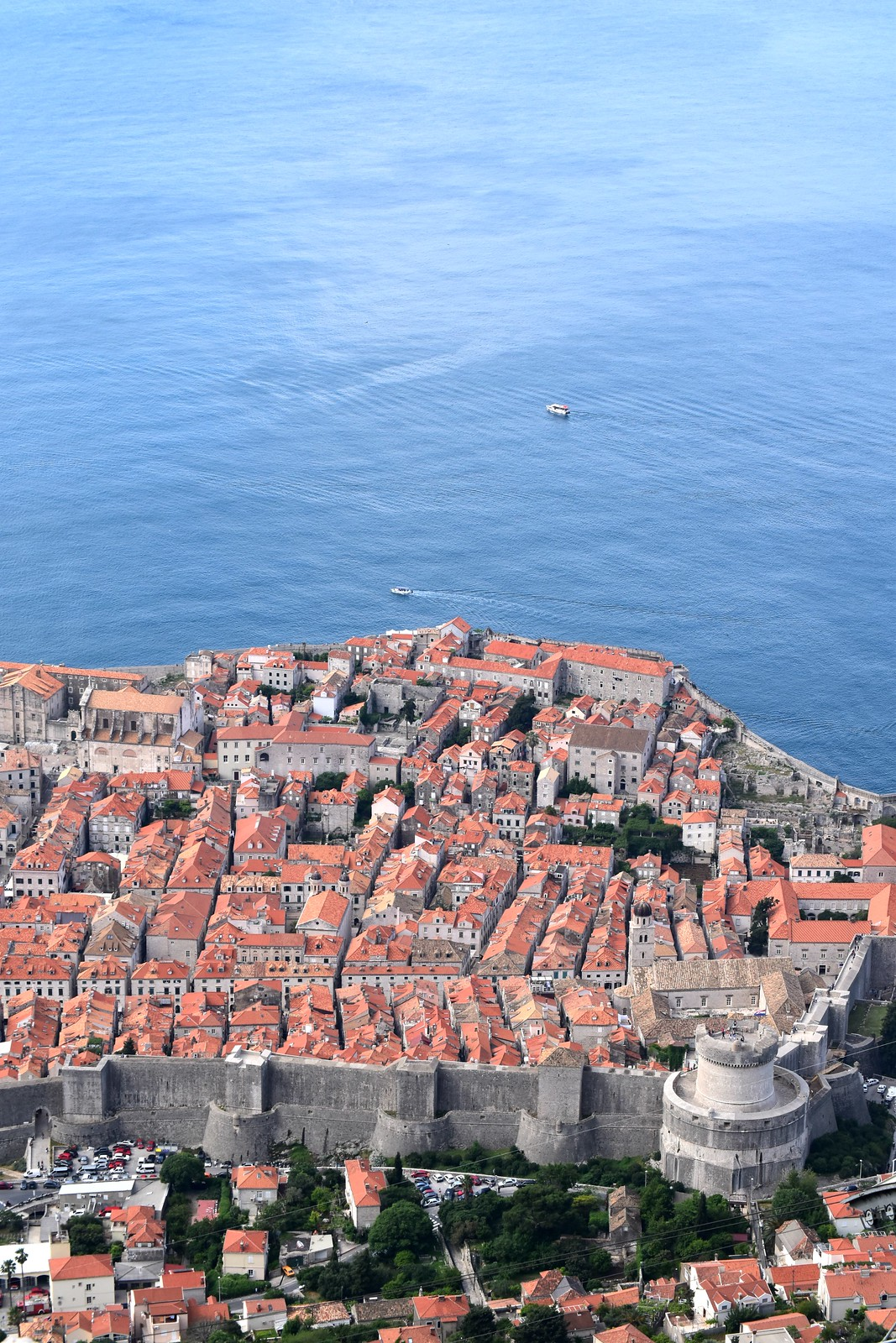 Beautiful Old Town Dubrovnik within the medieval walls