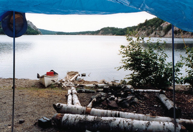 1988 Under the Tarp George Lake Campsite Killarney