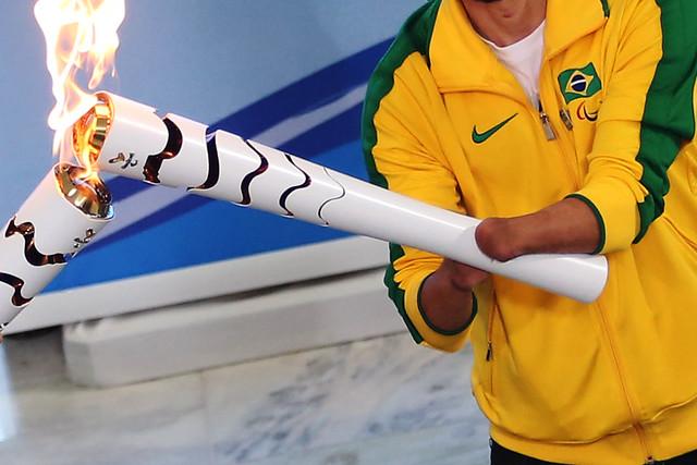 Cerimônia de Recepção da Tocha Paralímpica