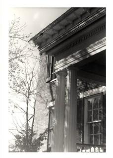 Millbank porch columns before vandalism