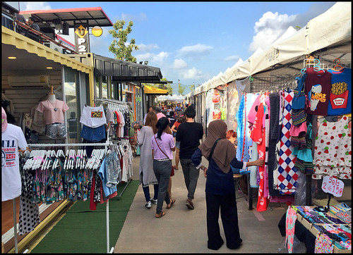 Clothes stalls at Chillva Market