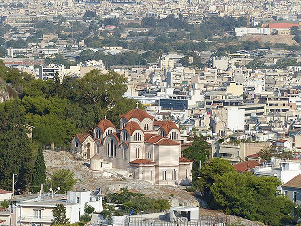 église vue du parthénon