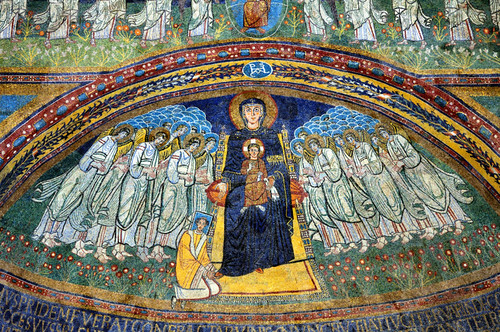 Rome - Basilica di Santa Maria in Domnica -  Byzantine-style apse mosaic 9thC. | by edk7