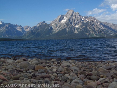 Mt. Moran over Jackson Lake from the Lakeside Trail, Grand Teton National Park, Wyoming