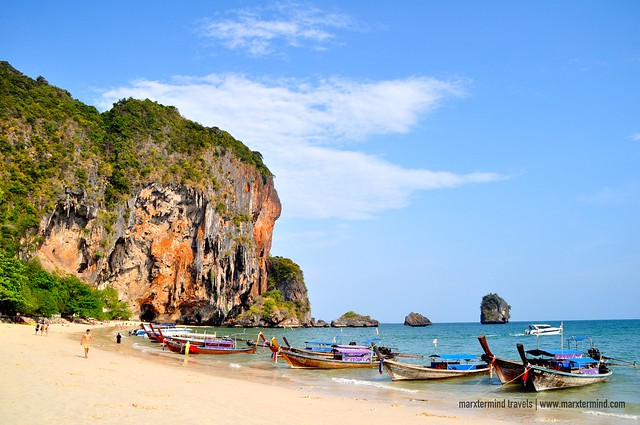 Phra Nang Cave Beach Long-tail Boats