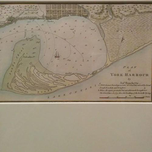 Plan of York Harbour #toronto #torontoreferencelibrary #maps #tdgallery #york #toronto #torontoharbour #torontoislands