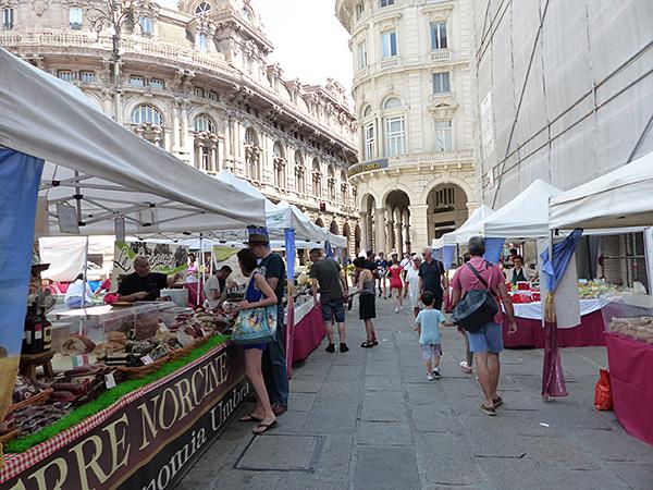 marché paysan à Gênes
