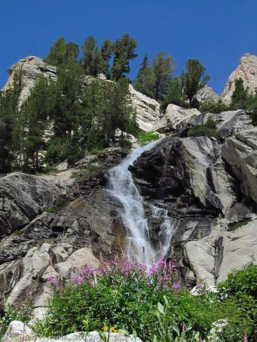 Waterfall in Garnet Canyon, Grand Teton National Park, Wyoming