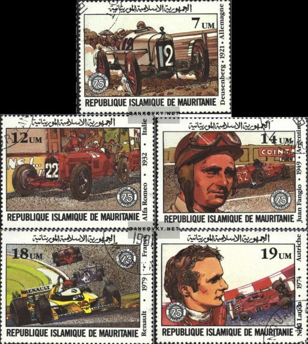 Známky Mauritánia 1981 Veľká cena Francúzska, razítkované