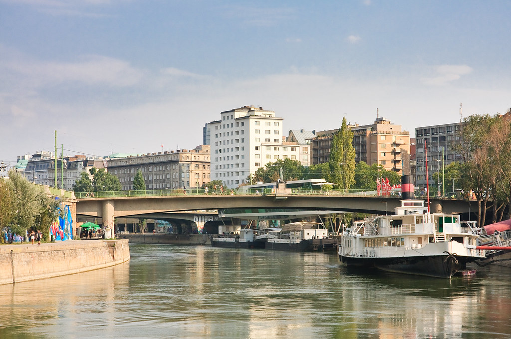 Context Vienna: Celebrating Vienna's Jewish Community. The Donaukanal (Danube Canal) is a tributary of the mighty river that separates Vienna's first and second districts.