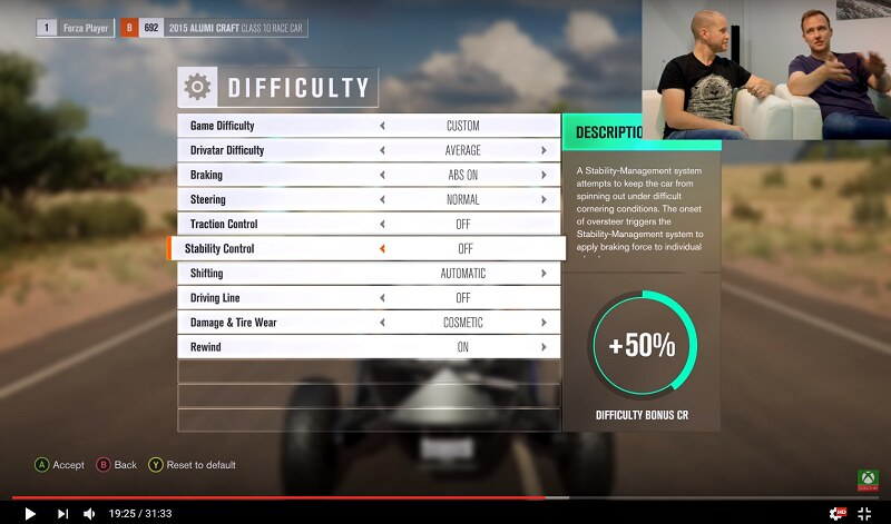 Forza horizon 3 game guide faq page 2 horizon 3 discussion increasing difficulty increases the bonus factor for event credit payout setting braking and steering to assisted will make it easier malvernweather Gallery
