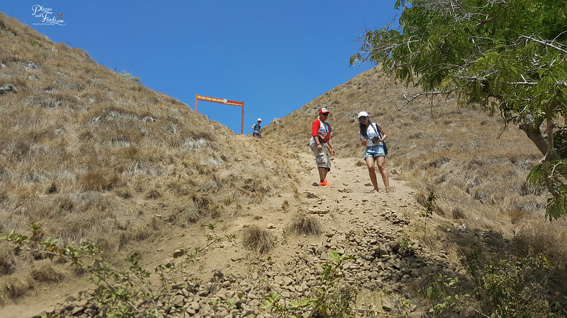 padar island steep downhill