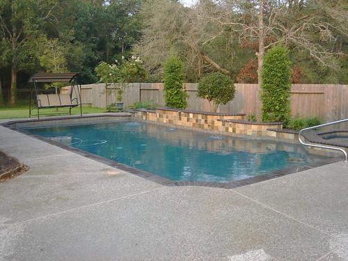 Geometric pool design backyard amenities 10327 travis for 3d pool design free