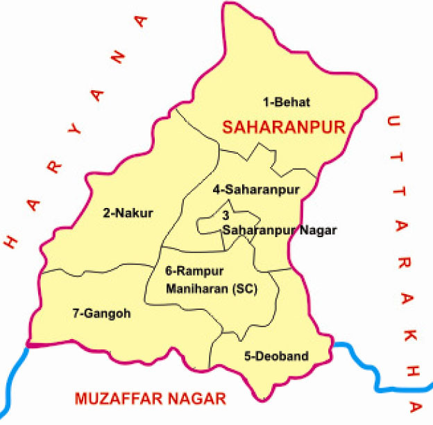 Saharanpur district Uttar Pradesh Election 2017