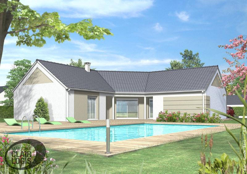 maison moderne iris faade arrire by maisons clair logis - Facade Maison Moderne