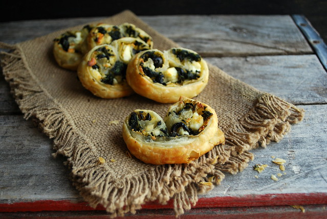 Spinach, Feta and Olive Pinwheels 1