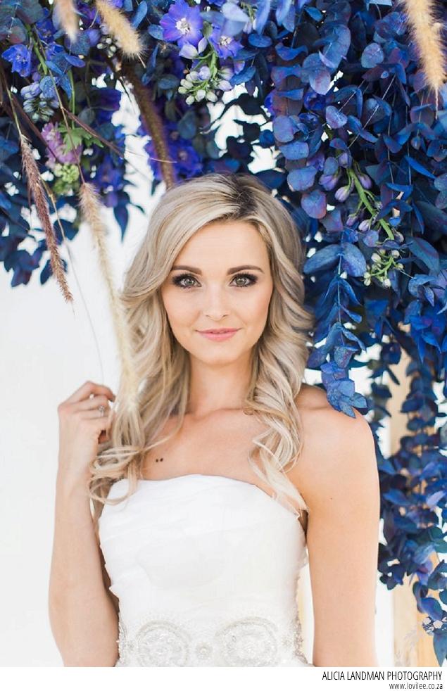 Blue shibori inspired bridal styled shoot