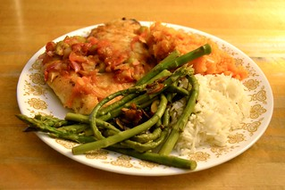 chicken marsala with olives and caramelized onions, mashed… | Flickr