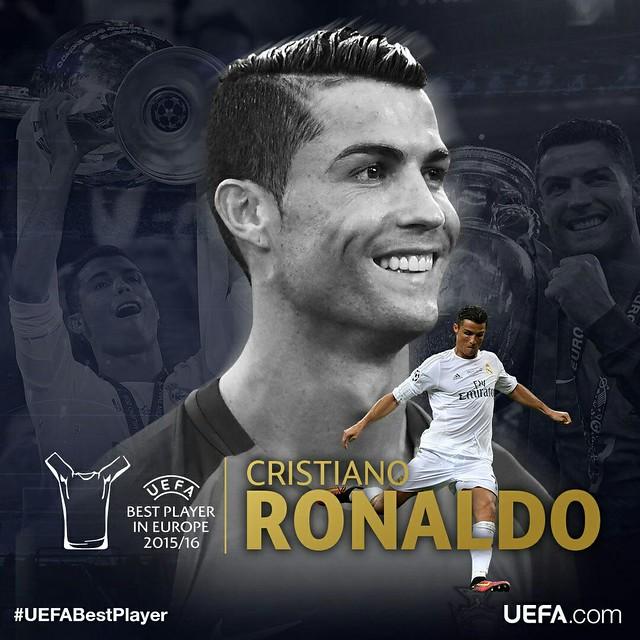 Cristiano Ronaldo consigue el UEFA Best player in Europe