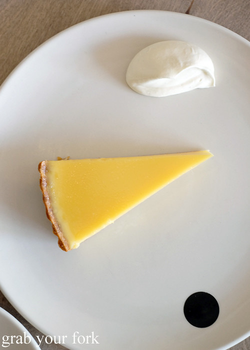 Lemon tart at Saint Peter by Chef Josh Niland in Paddington Sydney