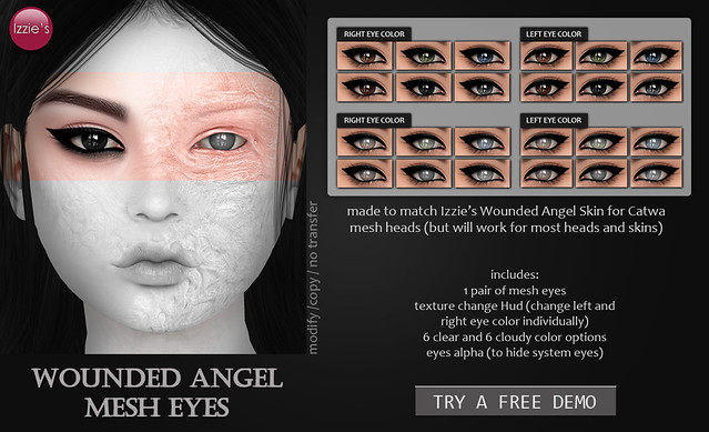 Wounded Angel Mesh Eyes (@ Uber)