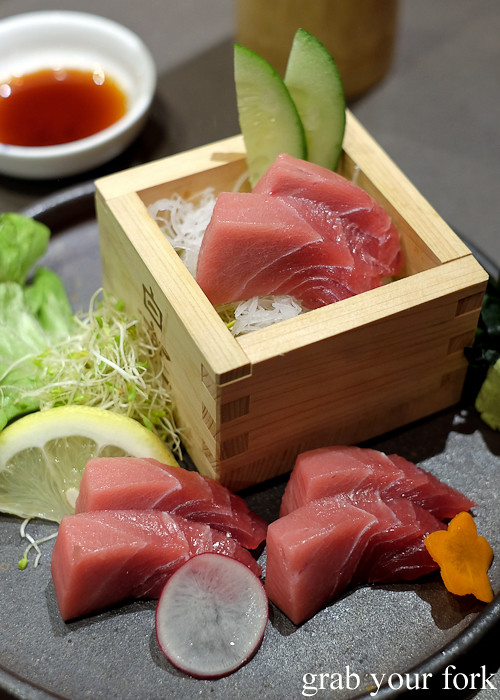 Chutoro tuna belly sashimi at Hana Ju-Rin in Crows Nest Sydney