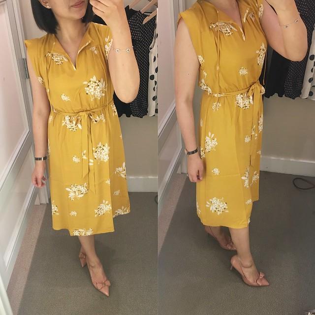 LOFT Hydrangea Flutter Dress, size XSP