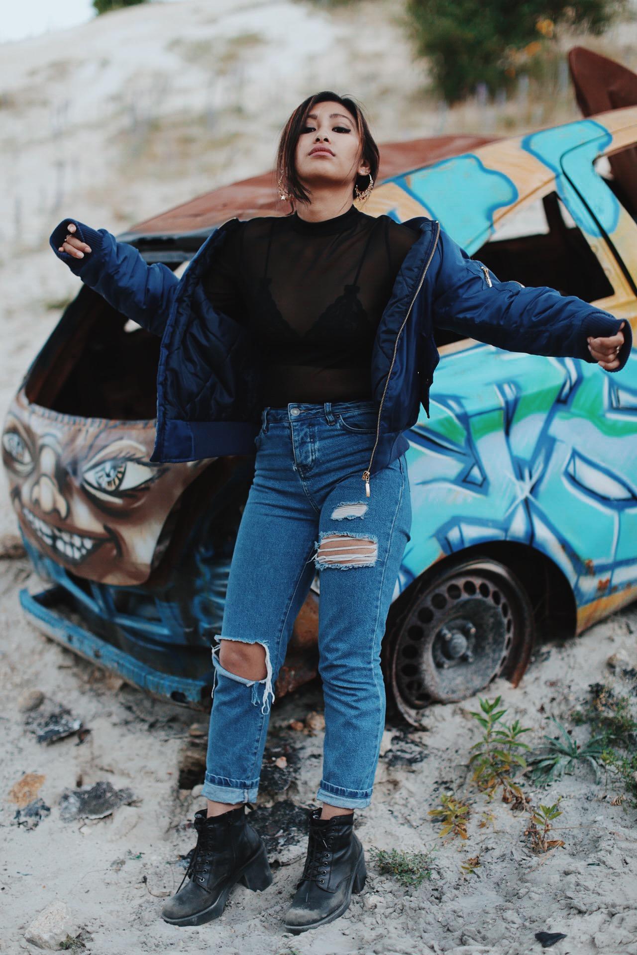 rosapelsblog jeans taille haute destroy