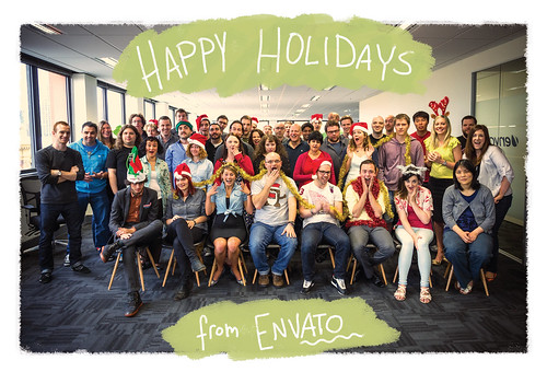 Merry Christmas & Happy Holidays from Envato | by envato