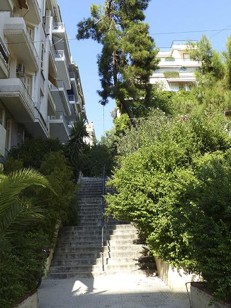 escaliers vers le Lycabette