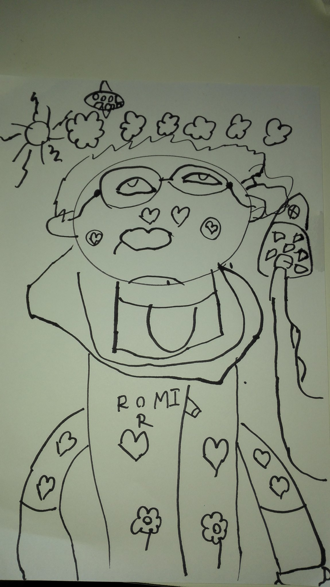 one more portrait of Romir's pather. Romir's drawing on Aug 2016