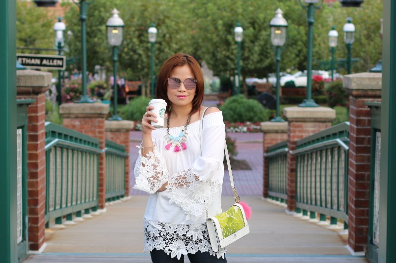 white-off-shoulder-lace-trim-top-starbucks-coffee-3
