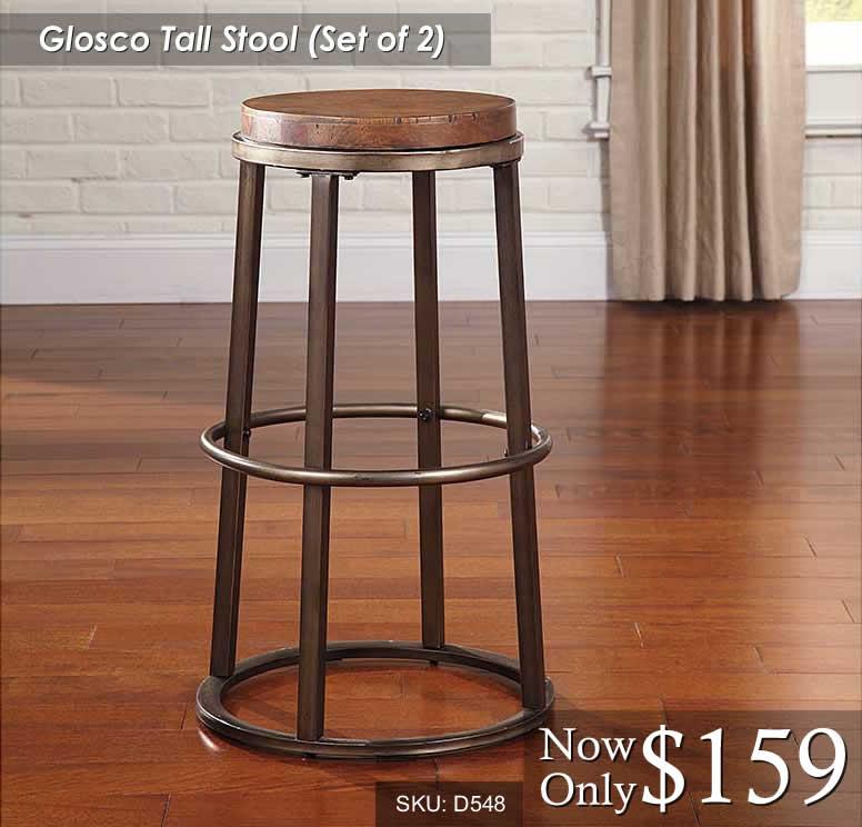 Glosco Tall Stool Set of 2