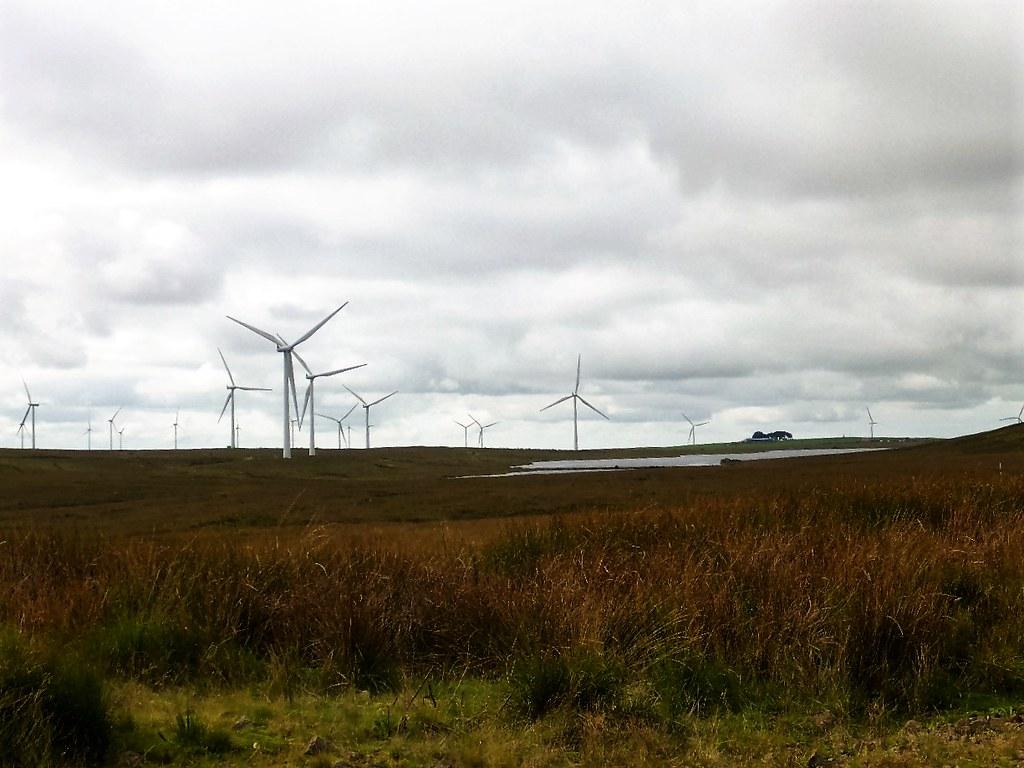 Aspect of Whiteleee Wind Farm, Scotland.