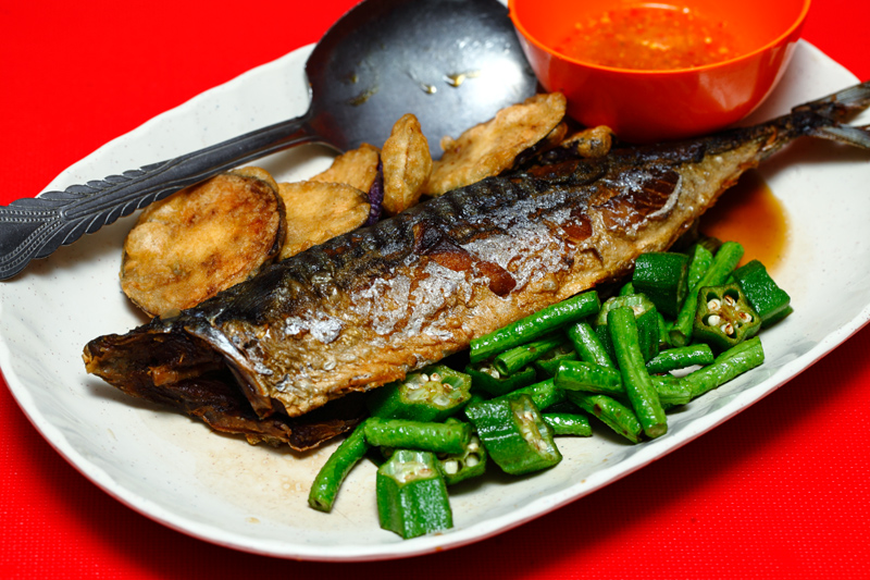 Fried Saba Fish
