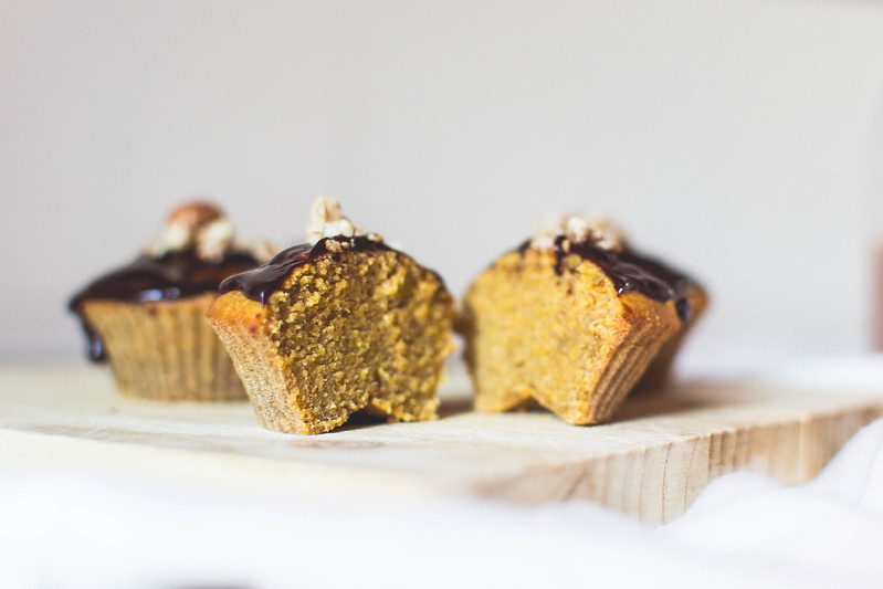 Healthy Carrot + Chocolate Muffins