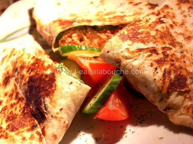 Quesadillas au Poulet & Pousses d'Epinard © Ana Luthi Tous droits réservés 007