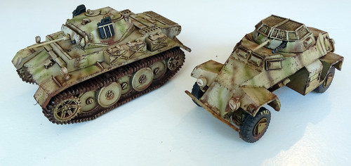 Bolt Action - Panzer II Luchs, SdKfz 222 & Weaponteams