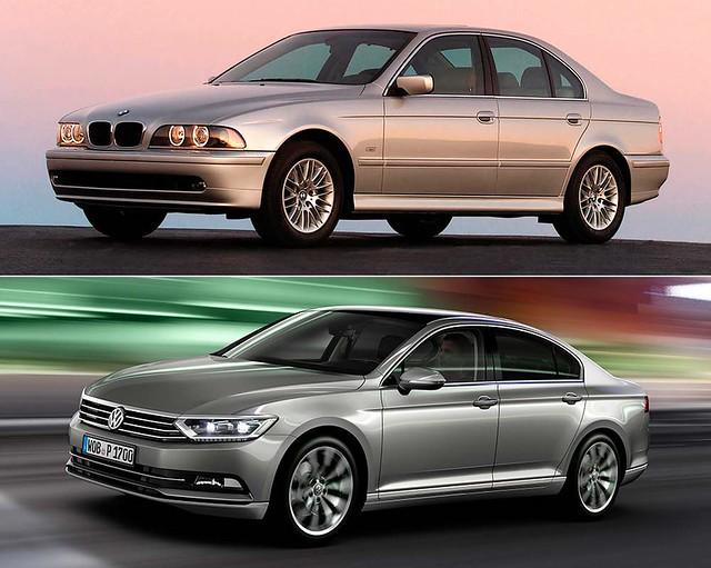 Сравнение BMW 5 в кузове E39 и Volkswagen Passat B8