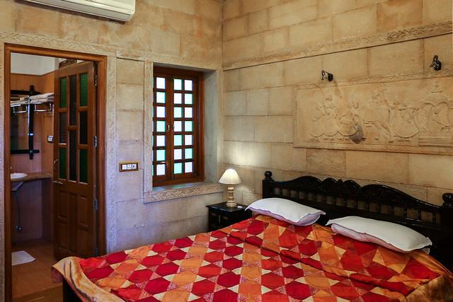 A room in Hotel Pleasant Haveli, Jaisalmer, India ジャイサルメール、ホテル・プレザント・ハヴェリで泊まった部屋