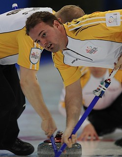 Edmonton Ab.Mar7,2013.Tim Hortons Brier.Manitoba second Reid Carruthers.CCA/michael burns photo | by seasonofchampions