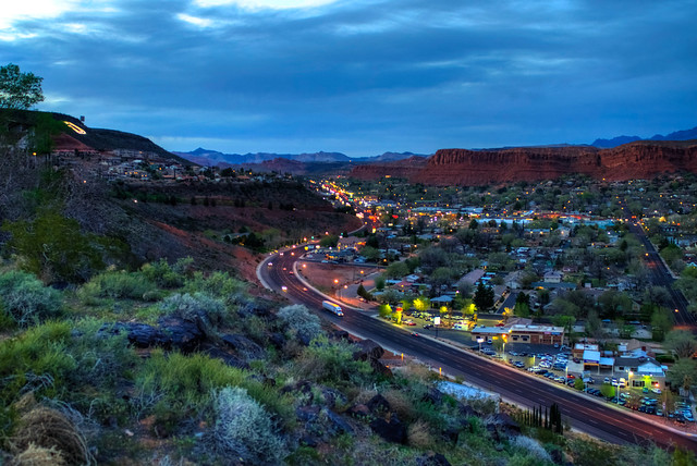 St. George, Utah at night