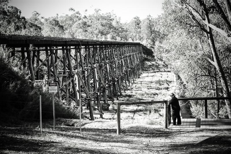 Bec looking over the bridge
