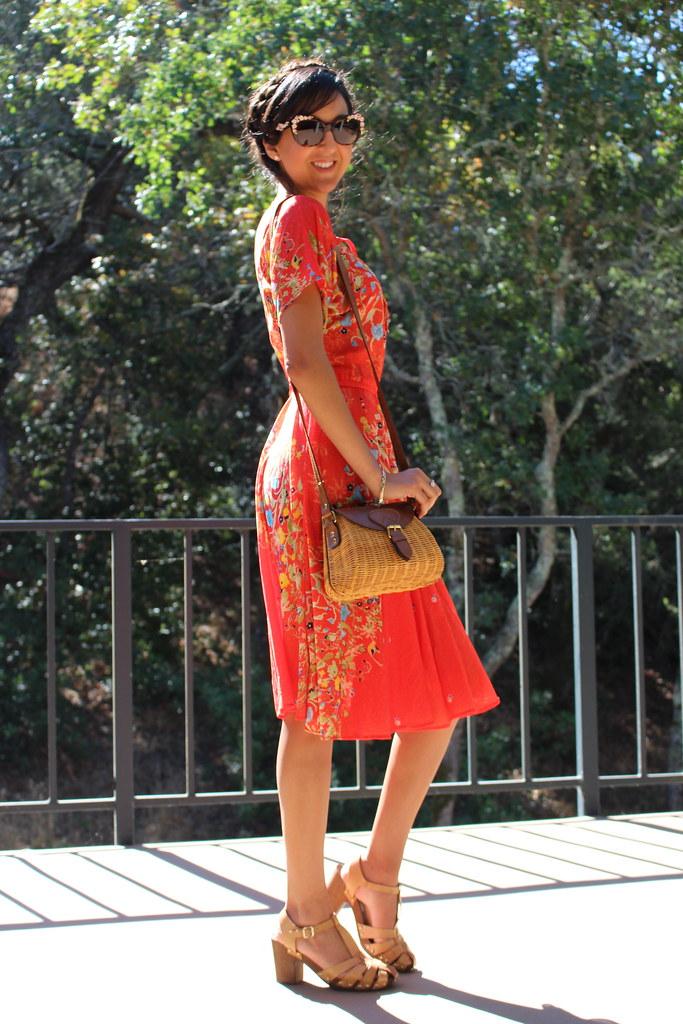 Vintage Red Dress 3